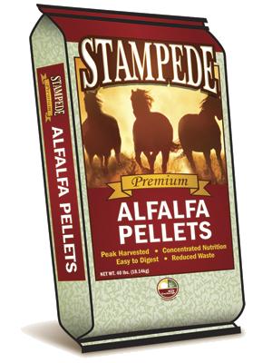 stampede alfalfa pellets