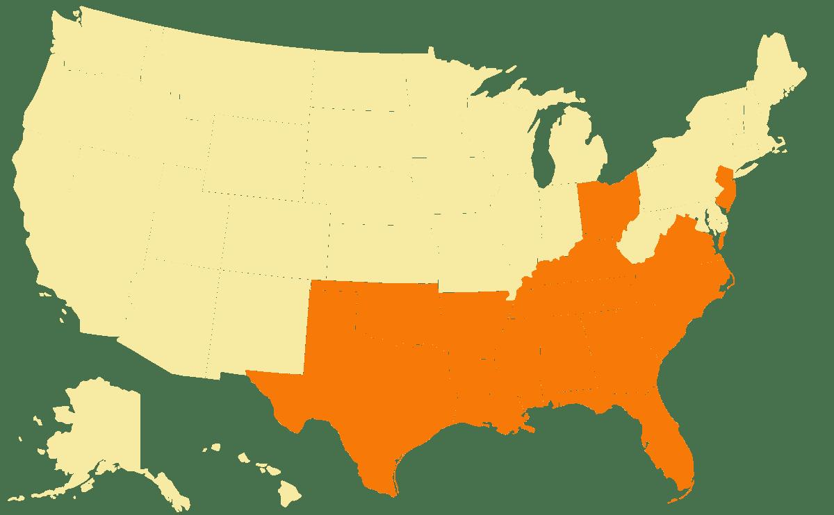 map of distributors